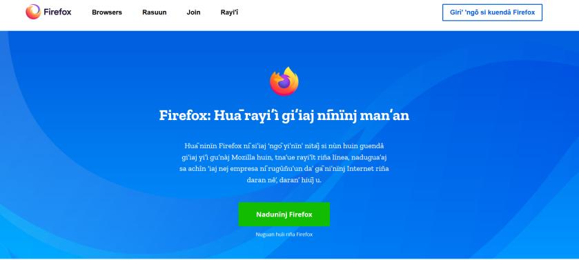 Screenshot_2019-11-13 Firefox, 'ngō navegador da' 'ngō diû Gachē nun chre